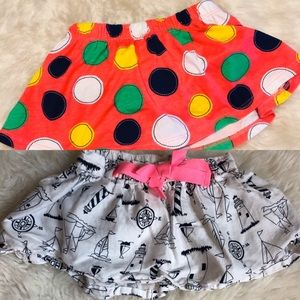 (2) Baby Girl Skirts: 1 Carter's, 1 Okie Dokie, 6M